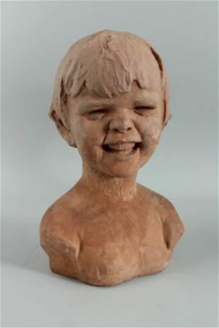 Endearing Sculptural Terracotta Bust