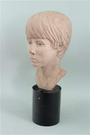 Academic Terracotta Bust Signed Irani '71