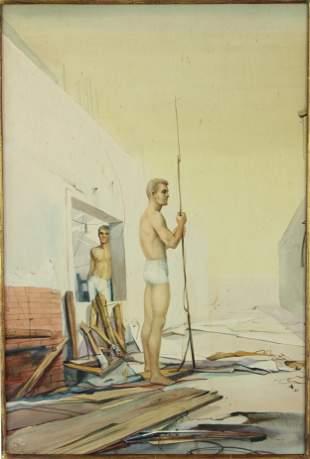 John Brock Lear (20th C, Pennsylvania) Watercolor