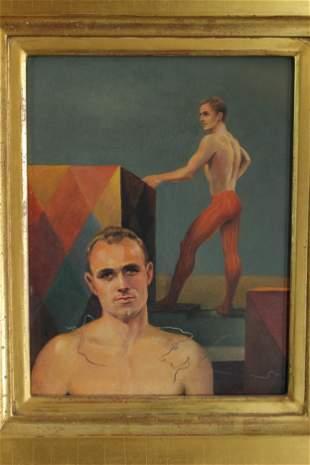 John Brock Lear (20th C, Pennsylvania) Acrobats