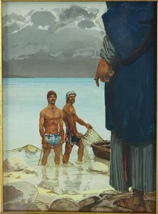 John Lear (20th C, Pennsylvania) Orientalist Work