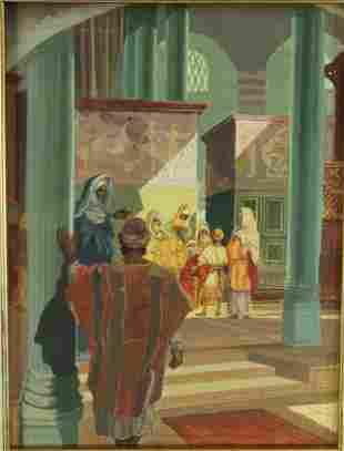 Orientalist Work Signed John Lear