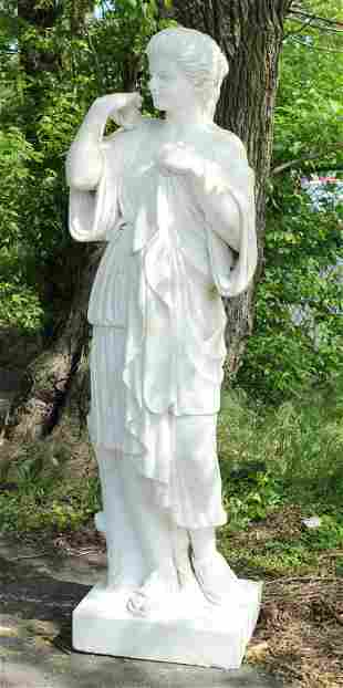 Monumental Carved Marble Neo-classical Figure