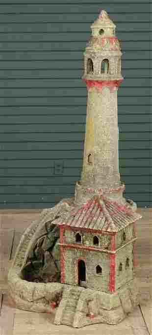 Vintage Cast Stone Lighthouse