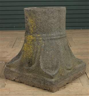 Centuries Old Antique Carved Stone Capital