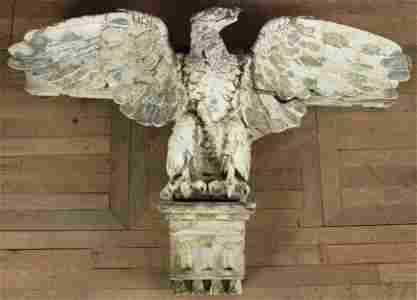 19th C Architectural Glazed Terracotta Eagle