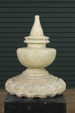 Architectural Carved Marble Finial