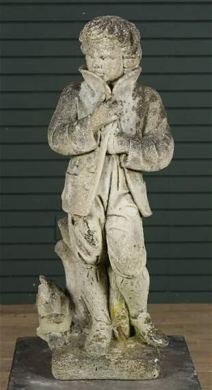 Vintage Cast Stone Garden Figure