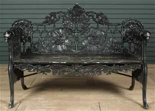Coalbrookdale Style Cast Iron Bench