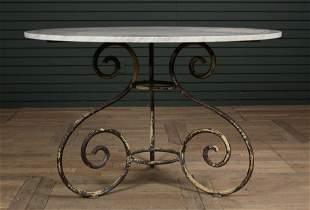 Wrought Iron Garden Center or Dining Table
