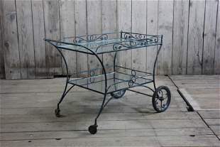 Wrought Iron Garden Bar Cart