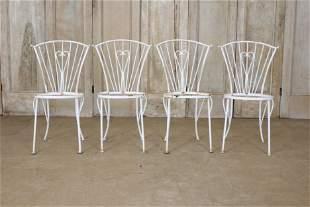 4 Rebar Frame Patio Chairs