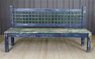 Modernist Painted Wood Garden Bench