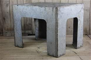 Industrial Riveted Zinc Island Height Table