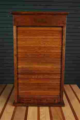 Rand McNally & Co. Antique Oak Collectors Cabinet