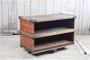 Vintage Rolling Industrial Table