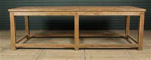Large Scale Plank Top Work Table