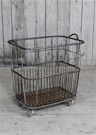 French Baguette Bakery Basket On Casters