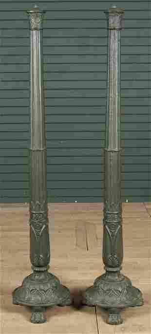 Pair of 19th C Cast Iron Columns