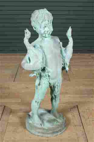 Young Satyr Figural Bronze Fountain