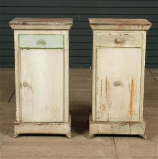 Pair of Late 19th Century Tole Side Cabinets