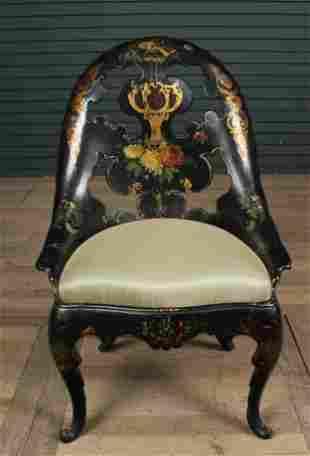 American Victorian Papier Mache Chair