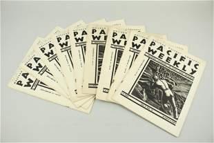 Pacific Weekly November 9, 1936, 9 copies