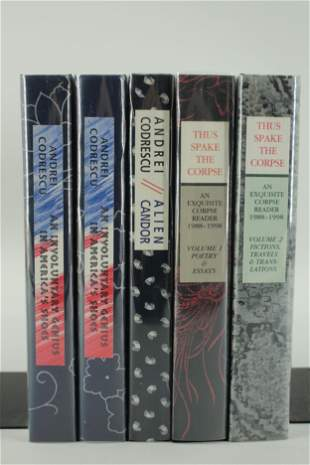 Five signed and Lettered Books by Andrei Codrescu