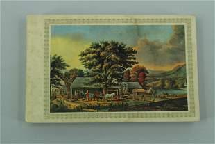 Currier & Ives Postcard Booklet