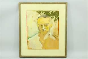 John Macwhinnie Portrait of Larry Rivers 1969