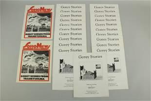 Gorey Stories Exhibtion Cat Signed, 21 copies