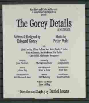 The Gorey Details Theater Sign