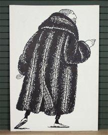 Edward Gorey in Fur- Cameo Stage Prop
