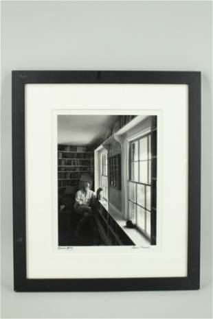 Edward Gorey Photograph by Steve Marsel, Signed