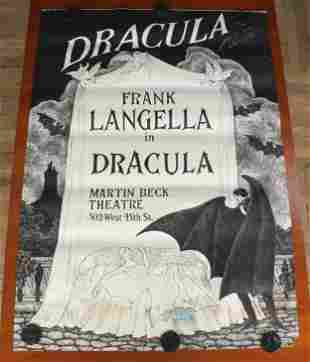 Edward Gorey's Dracula Signed Theater Poster