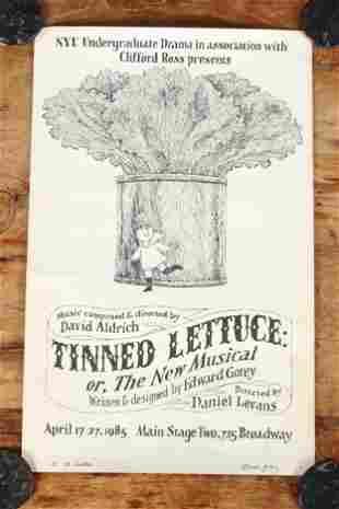 Tinned Lettuce Poster Signed & Dedicated