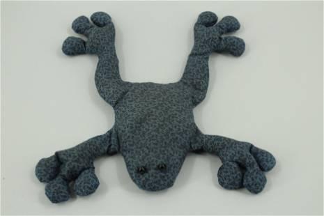 Edward Gorey Frog Bean Bag Animal with Button Eyes
