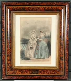 Godey's 19th C Fashion Plate Lithograph