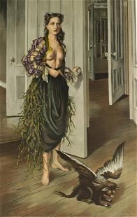 Dorothea Tanning Self Portrait at 30, Signed Litho