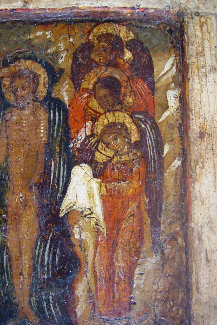 Baptism of Christ, around 1550-1600, Russian Icon. - 4