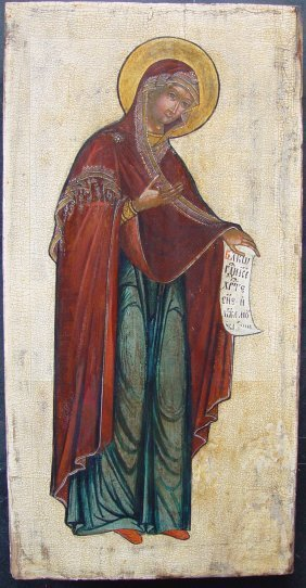 Mother Of God Of Deesis,17th Century, Russian Icon