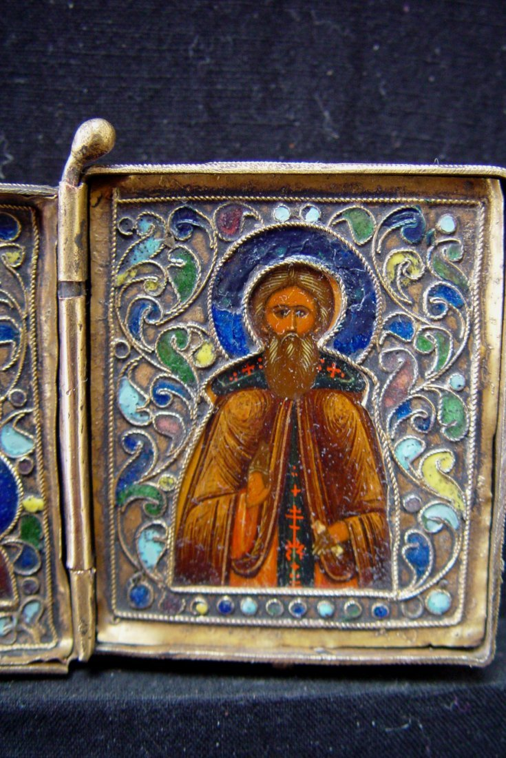 Travelling Diptych, 19th century, Russian Icon. - 2