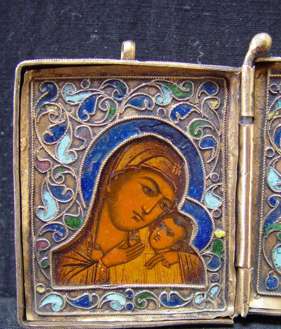 Travelling Diptych, 19th century, Russian Icon. - 5