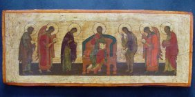 Extended Deesis, Around 1600-1700, Russian Icon.