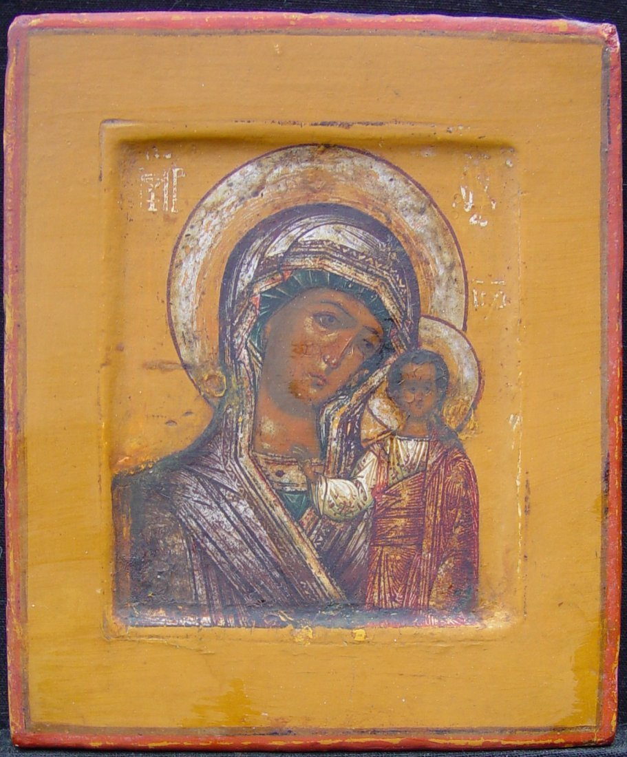 Mother of God of Kazan,  19th century, Russian Icon.