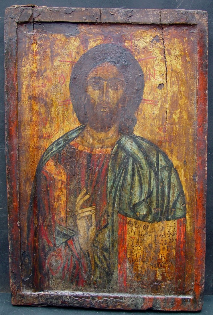 Very Large Christ Pantocrator, 1550 -1600, Russian Icon