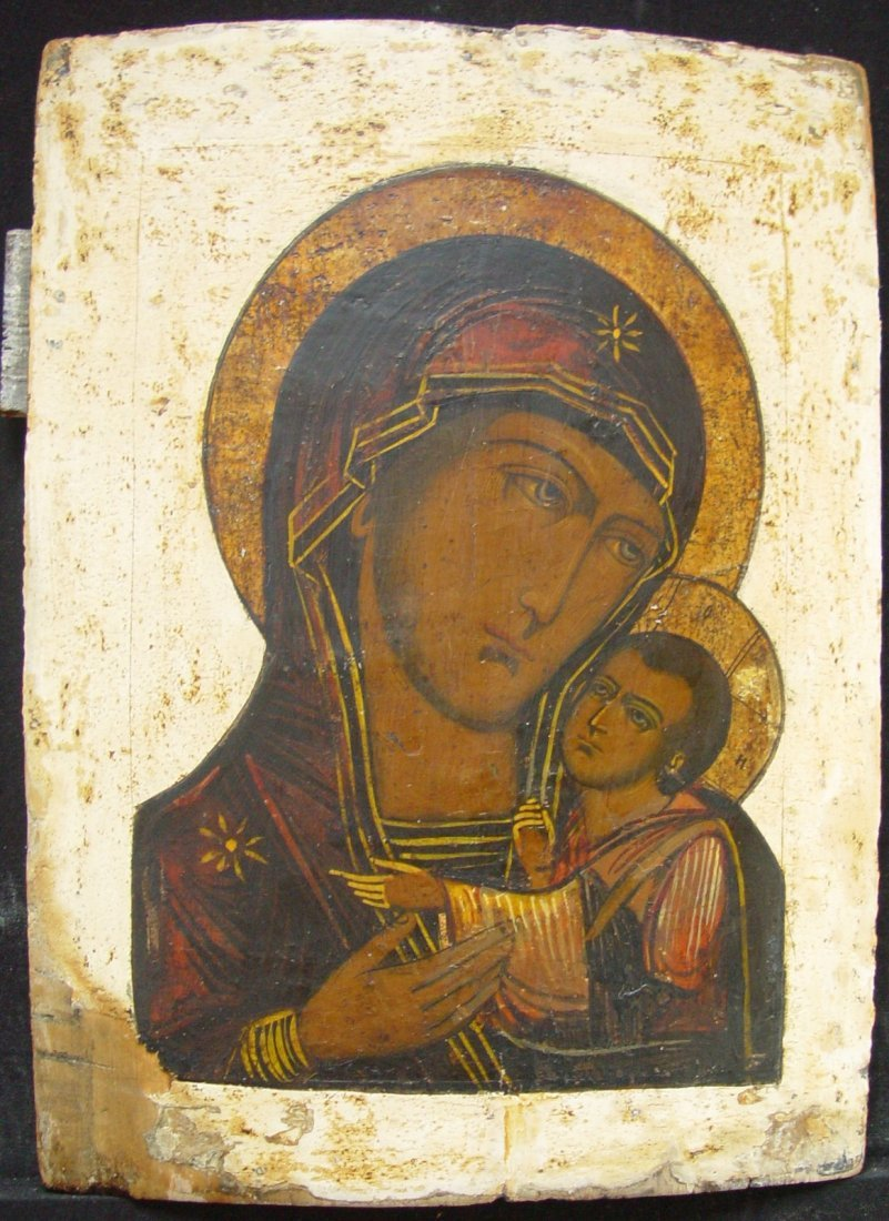 Mother of God of Korsun, age 1800, Russian Icon.