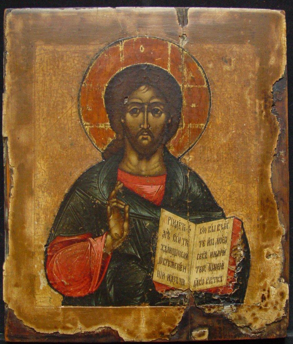 Christ Pantocrator, age 1700 -1750, Russian Icon