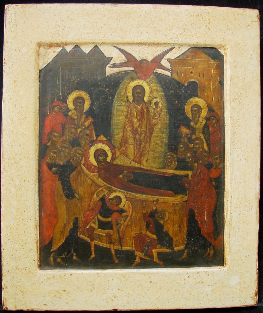 Dormation, 17th century, Russian Icon.