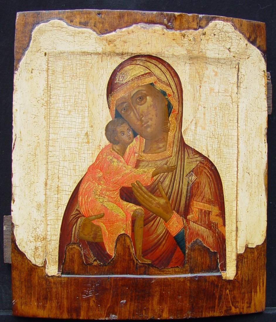Virgin of Vladimir, 19th century, Russian Icon.